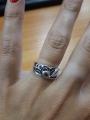 Кольцо с синими камушками