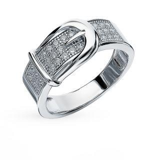 Серебряное кольцо с фианитами SUNLIGHT: белое серебро 925 пробы, фианит — купить в интернет-магазине Санлайт, фото, артикул 97531