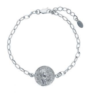 Серебряный браслет: белое серебро 925 пробы — купить в интернет-магазине SUNLIGHT, фото, артикул 123069