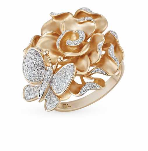 6736def28ce1 Кольца в виде розы — купить недорого в каталоге с фото и ценами — интернет-магазин  SUNLIGHT в Москве