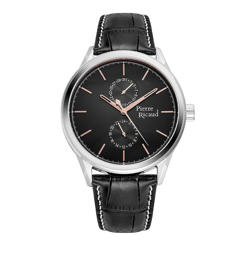 Фото «Мужские кварцевые часы P97244.52R4QF на кожаном ремешке с минеральным стеклом»