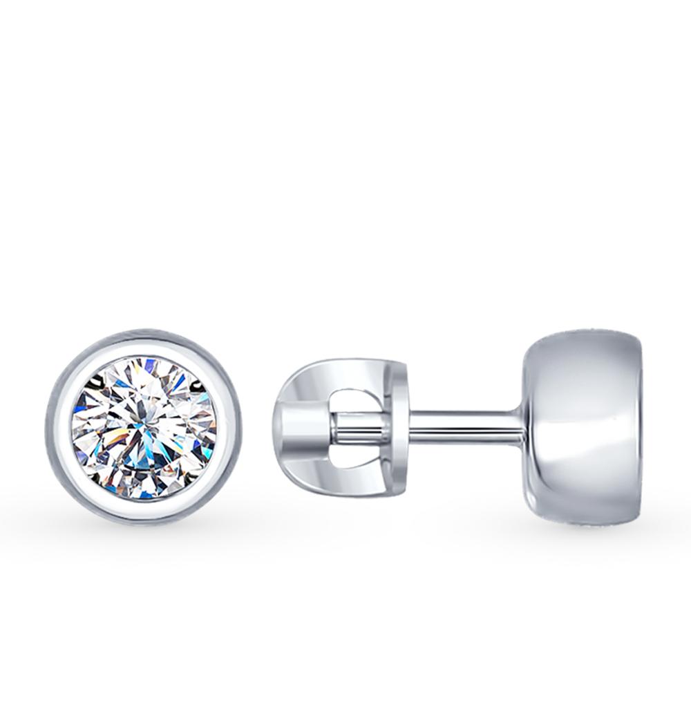 серебряные серьги с фианитами SOKOLOV 94022230