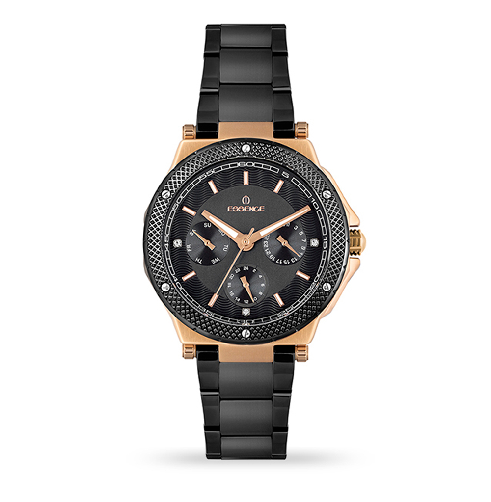 Фото «Женские часы ES6611FE.850 на стальном браслете с IP покрытием с минеральным стеклом»