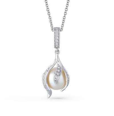 Золотая подвеска с жемчугом и бриллиантами в Екатеринбурге