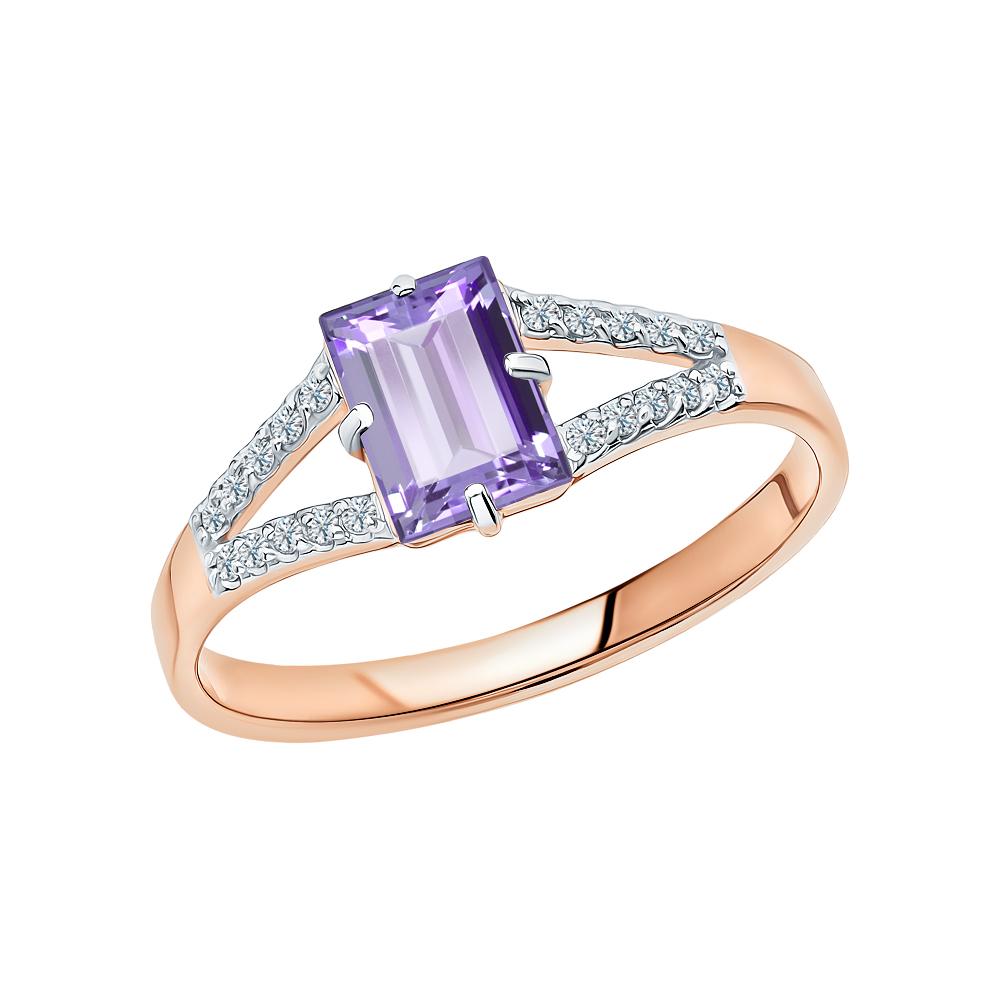 Фото «Золотое кольцо с танзанитом и бриллиантами»