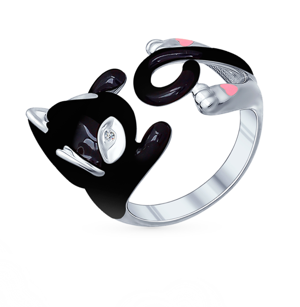 Фото «Серебряное кольцо с фианитами SOKOLOV 94011780»