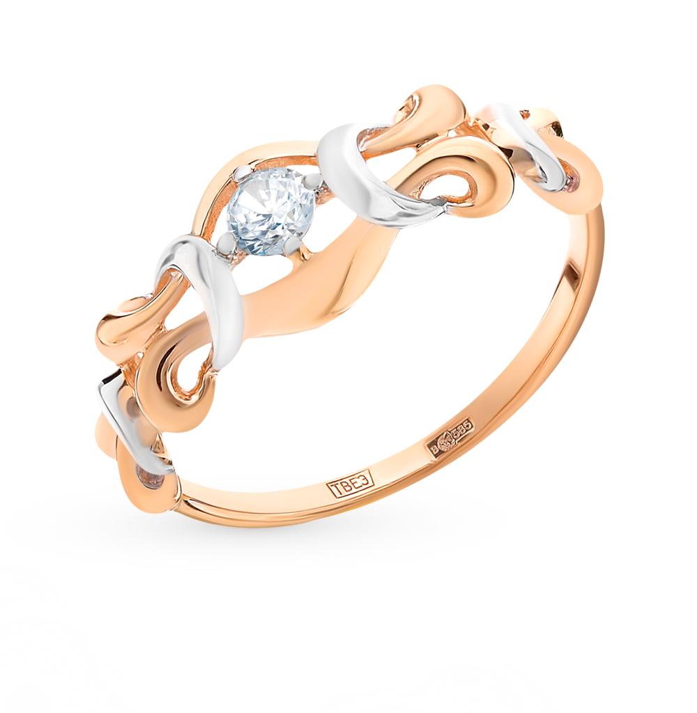 золотое кольцо с фианитами SOKOLOV 017655*