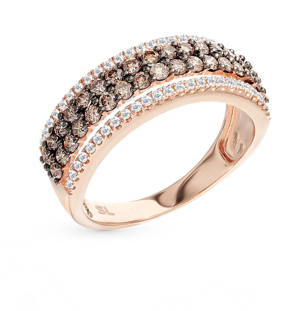 Золотое кольцо с коньячными бриллиантами в Санкт-Петербурге