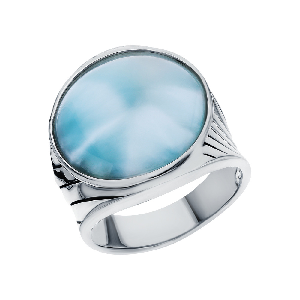 Фото «Серебряное кольцо с ларимаром»