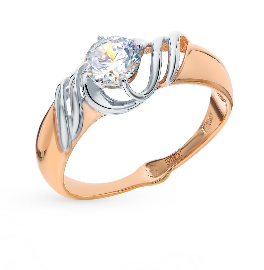 золотое кольцо с фианитами SOKOLOV 017761*