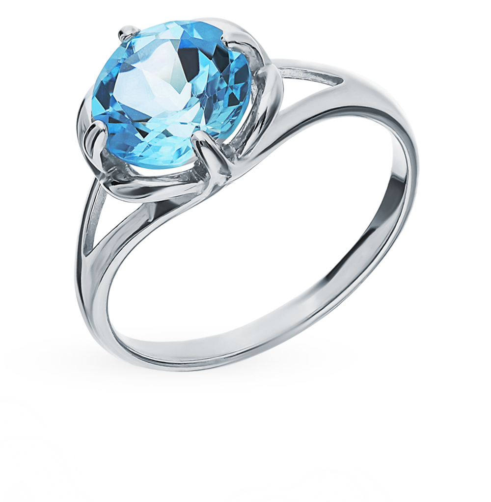 Фото «Серебряное кольцо с топазами SOKOLOV 92011787»