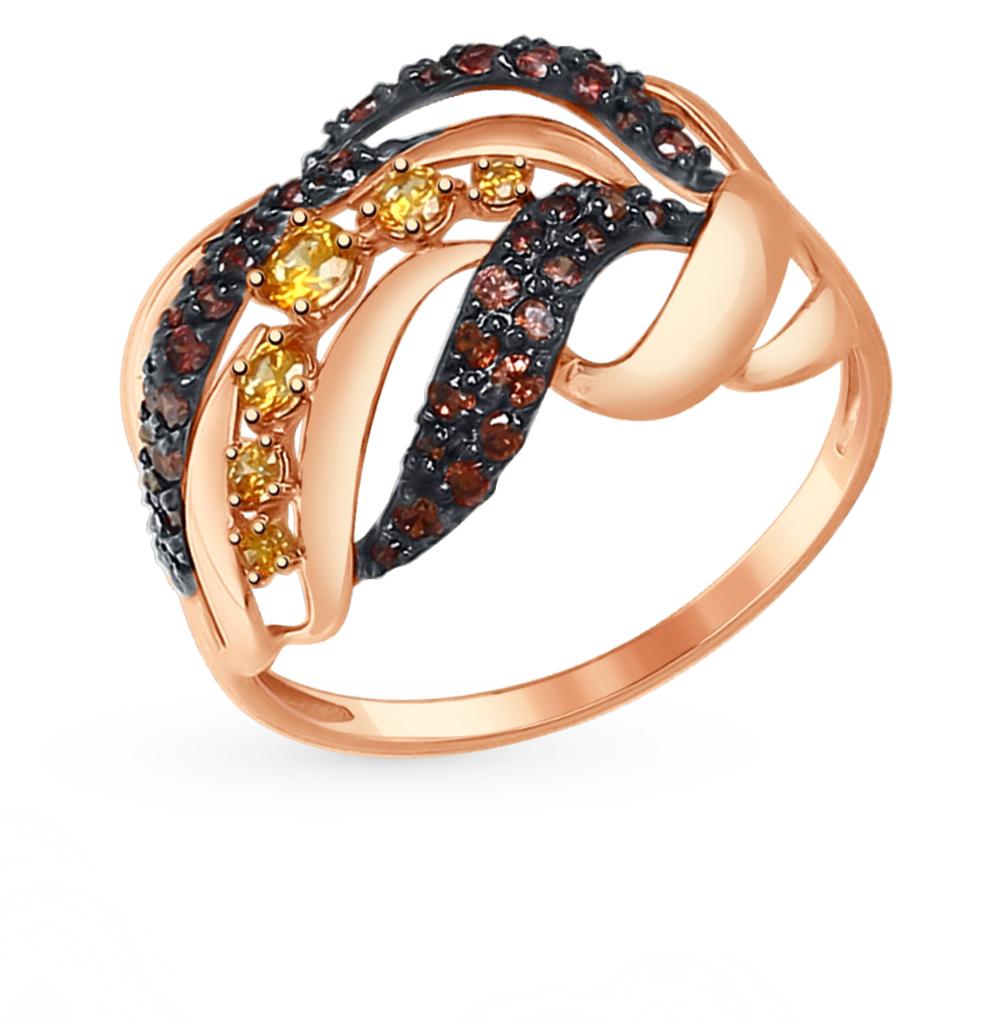 золотое кольцо с фианитами SOKOLOV 017367*