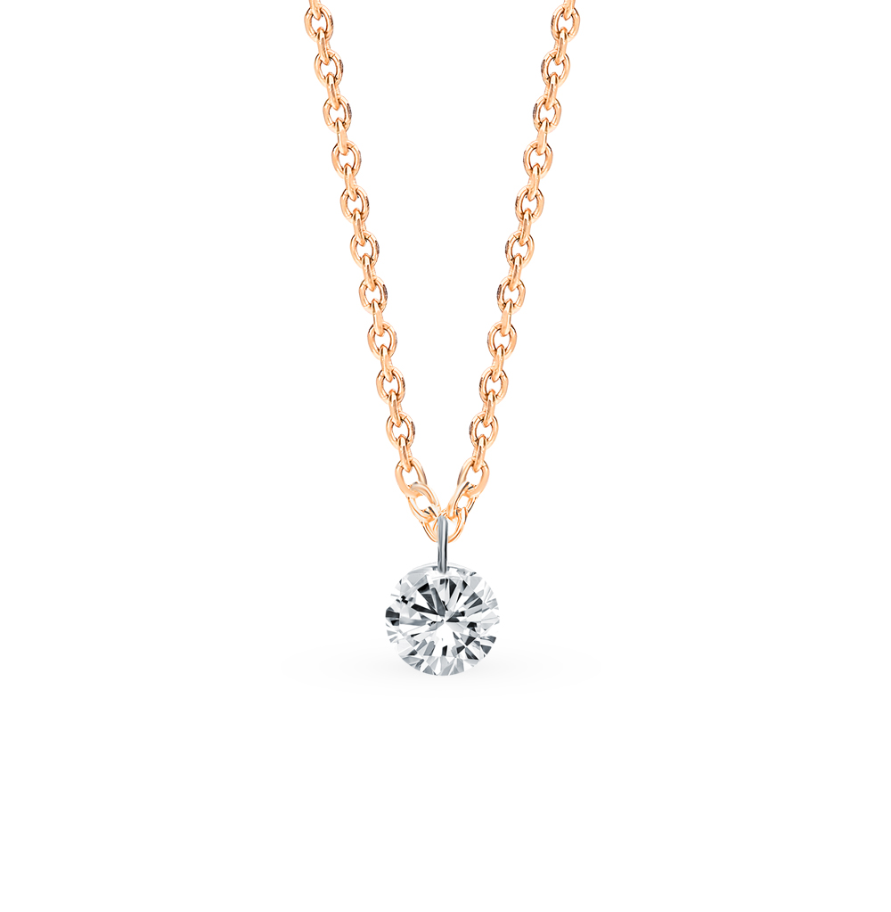 Золотое колье с бриллиантом в Екатеринбурге
