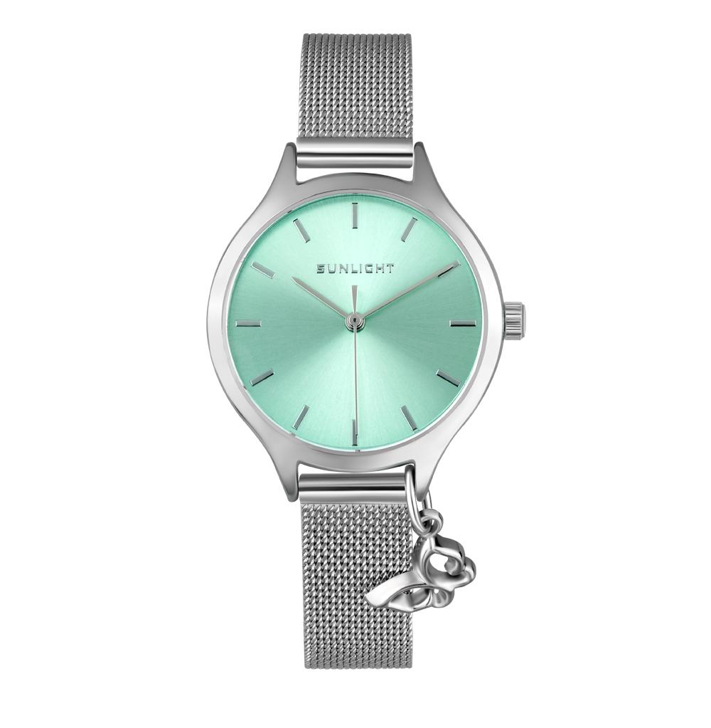 Женские часы с подвеской на миланском браслете