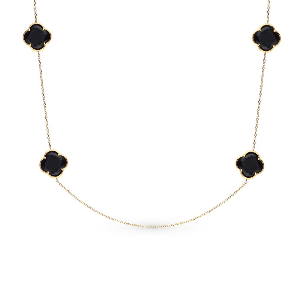 Фото «Золотое шейное украшение с ониксом»