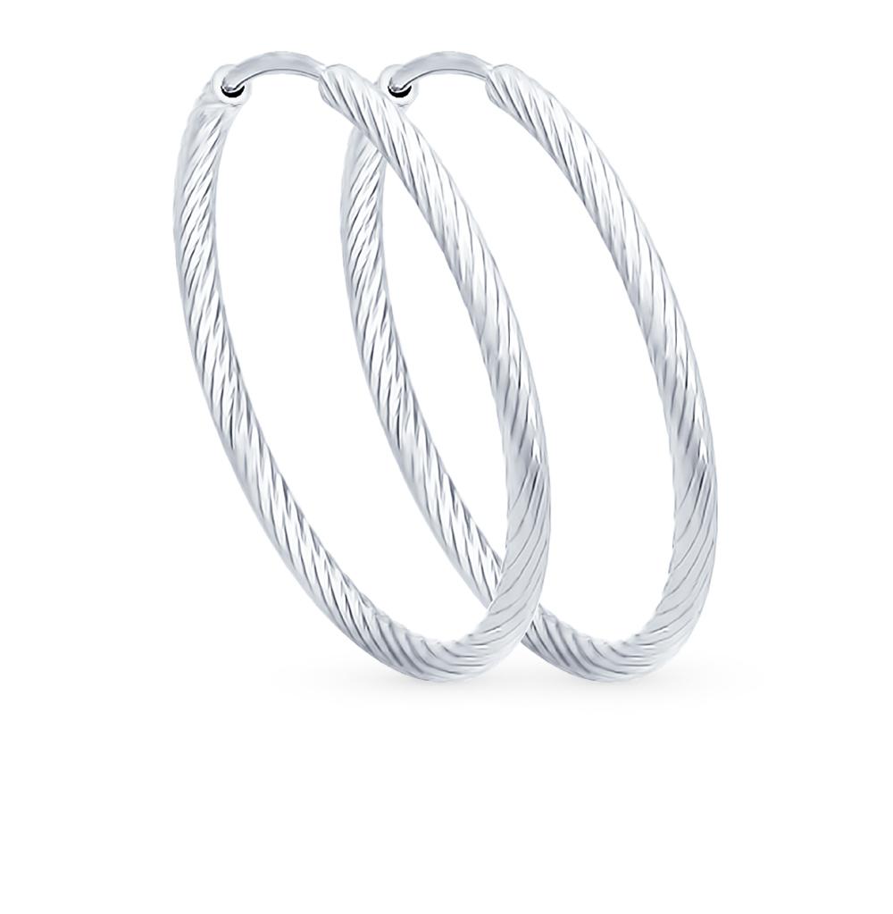 серебряные серьги SOKOLOV 94140004