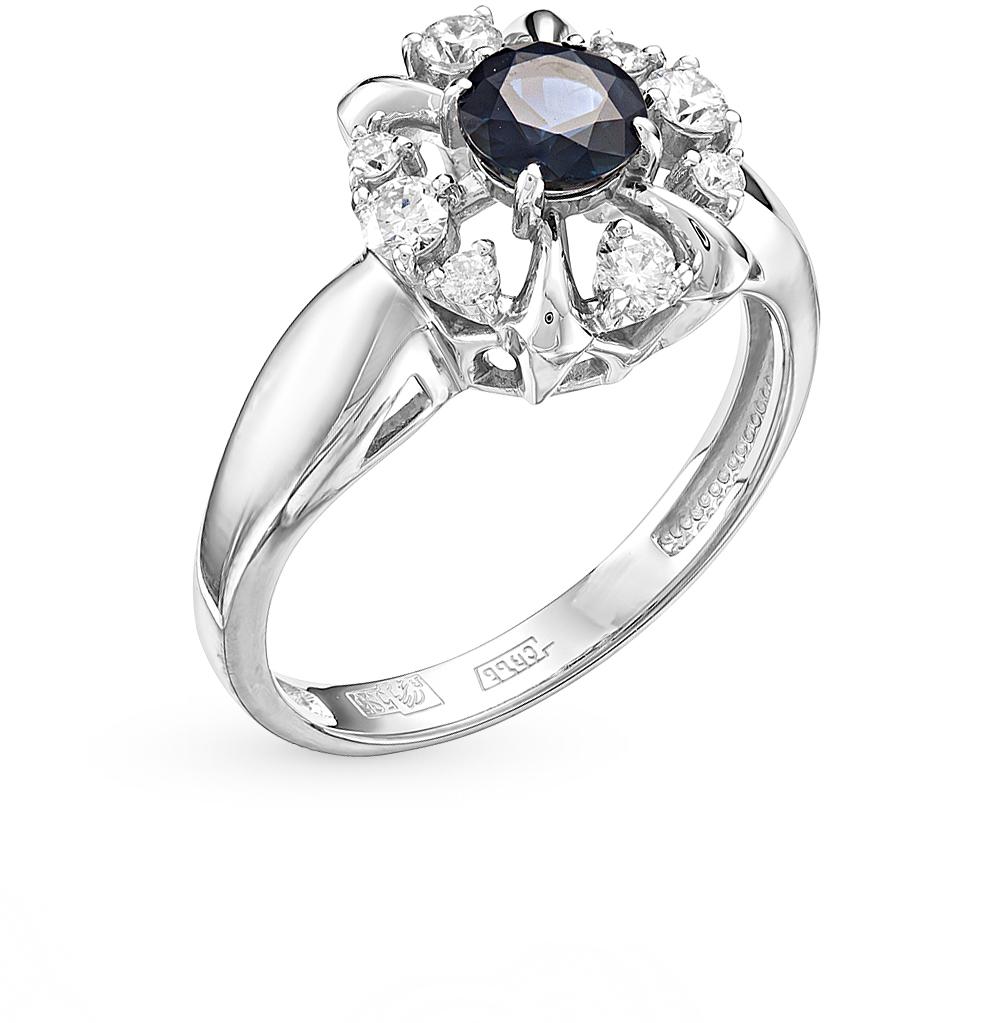 Золотое кольцо с сапфиром бриллиантами