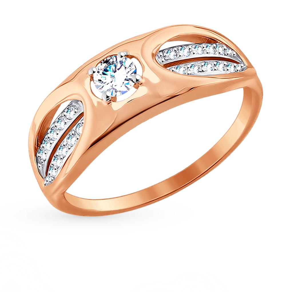 Фото «Золотое кольцо с фианитами SOKOLOV 017672*»