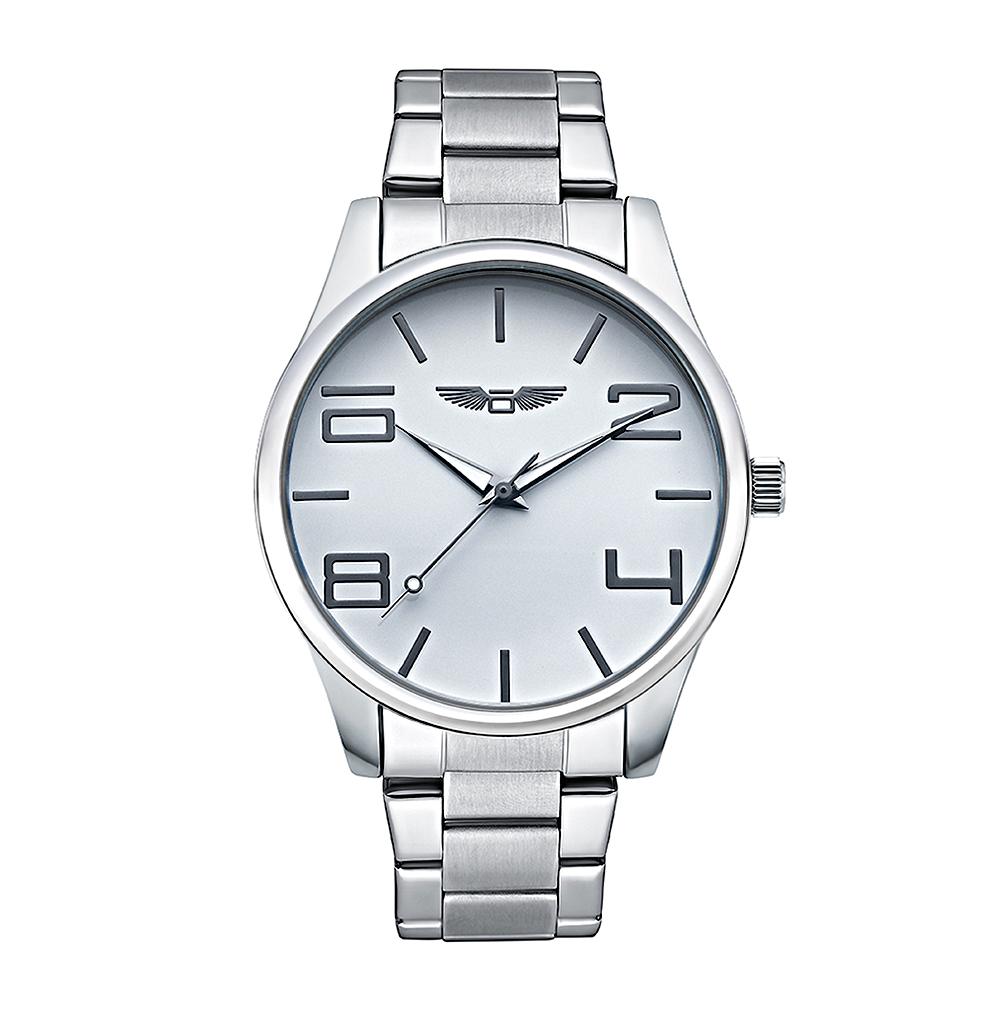 Универсальные часы на металлическом браслете