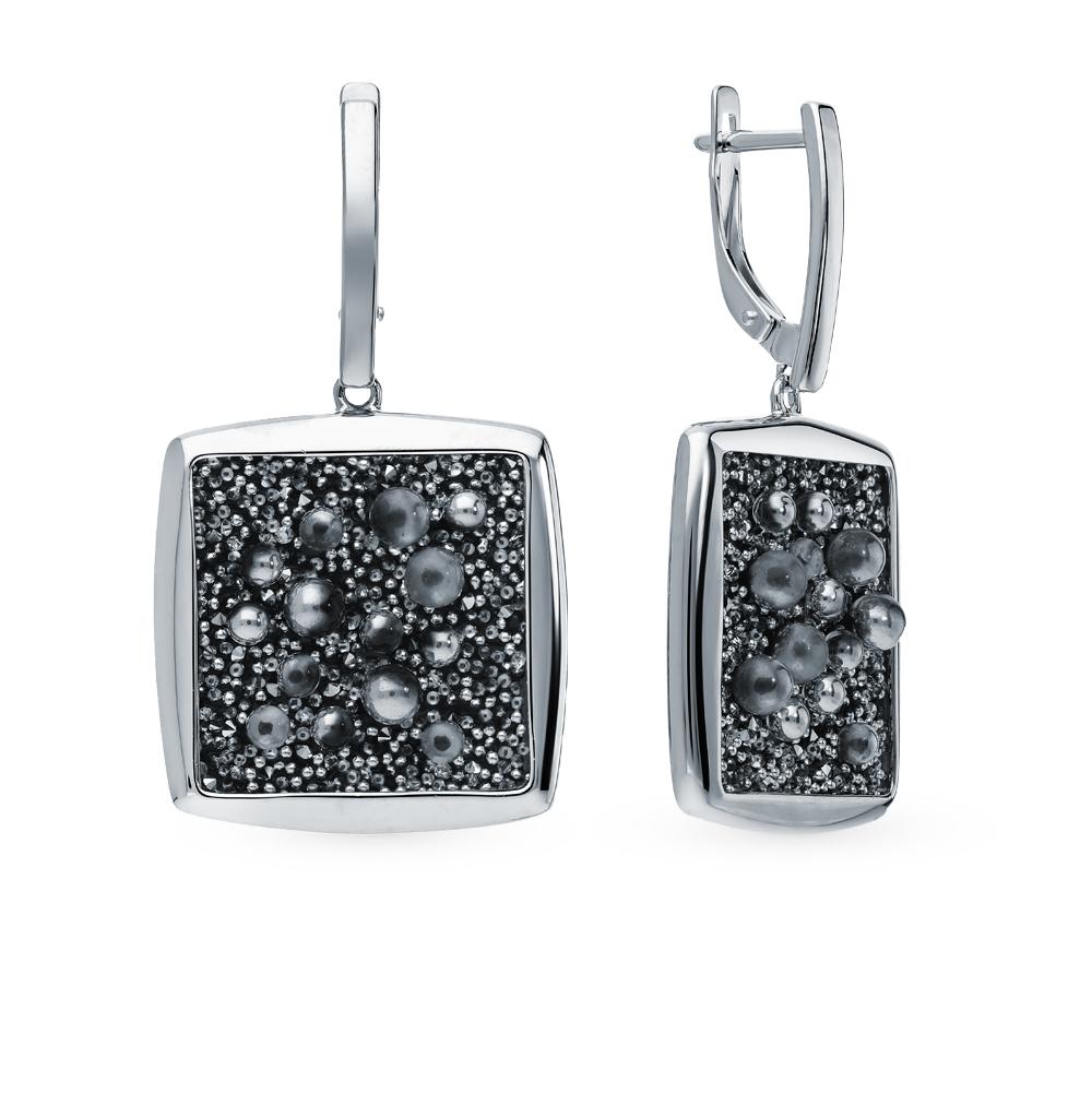 Фото «Серебряные серьги с кристаллами SOKOLOV 94023808»
