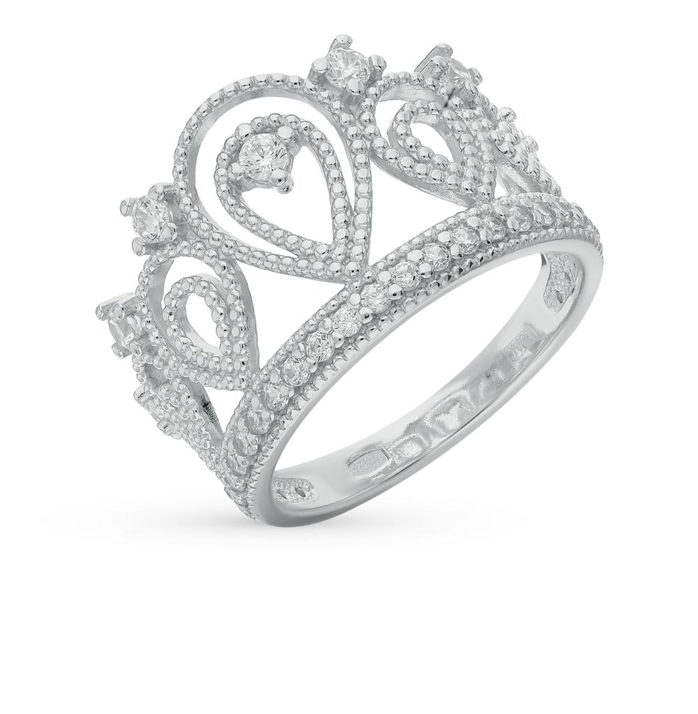 серебряное кольцо с фианитами SOKOLOV 94011215
