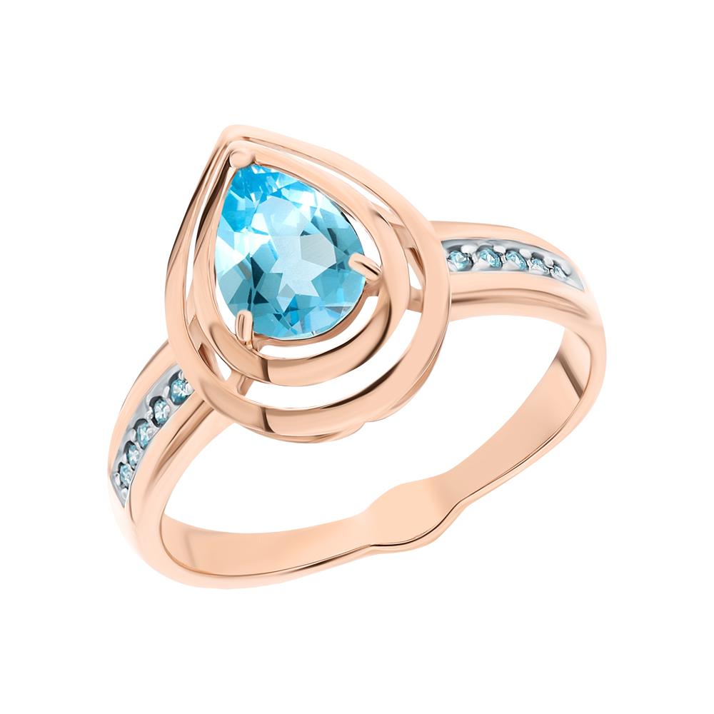 Золотое кольцо с топазами и фианитами SOKOLOV 715317* в Екатеринбурге