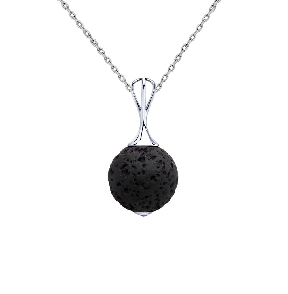 Фото «Серебряная подвеска с лавовыми камнями SOKOLOV 8510300001»