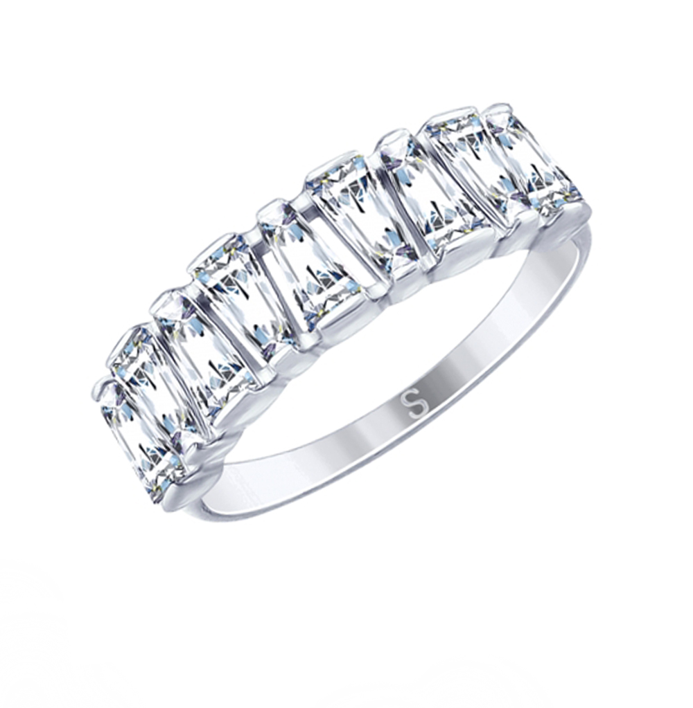 Фото «Серебряное кольцо с фианитами SOKOLOV 94012644»