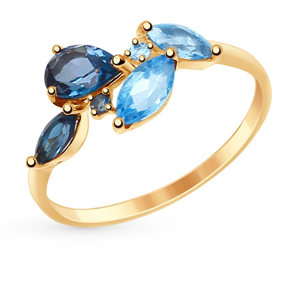 золотое кольцо с топазами SOKOLOV 714820*