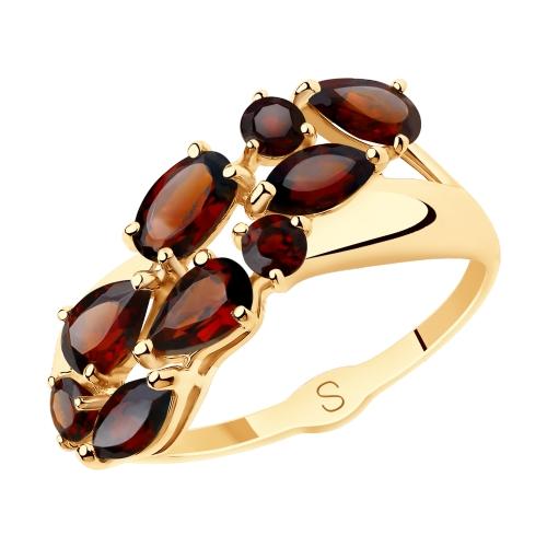 Фото «Золотое кольцо с гранатом SOKOLOV 715633*»