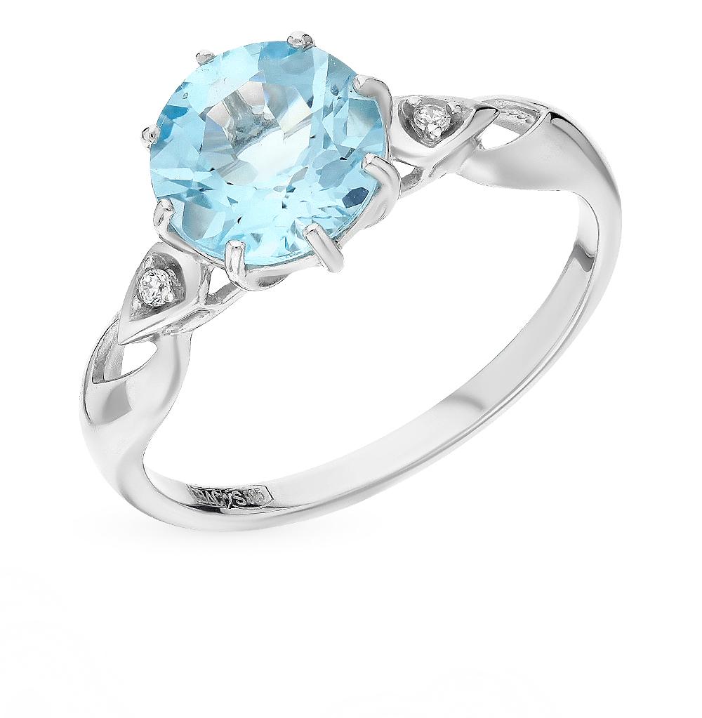 Фото «Серебряное кольцо с топазами и фианитами SOKOLOV 92011086»