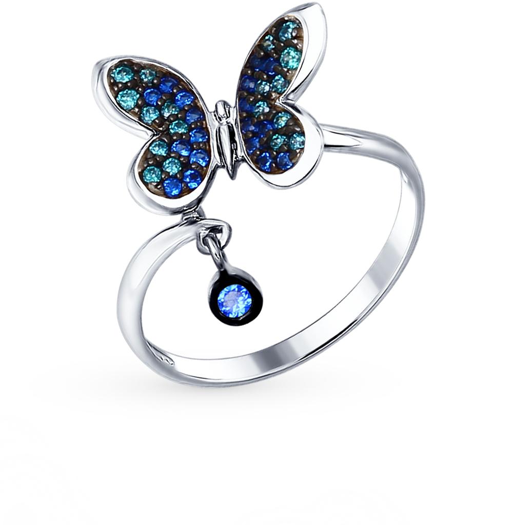 серебряное кольцо с фианитами SOKOLOV 94012308