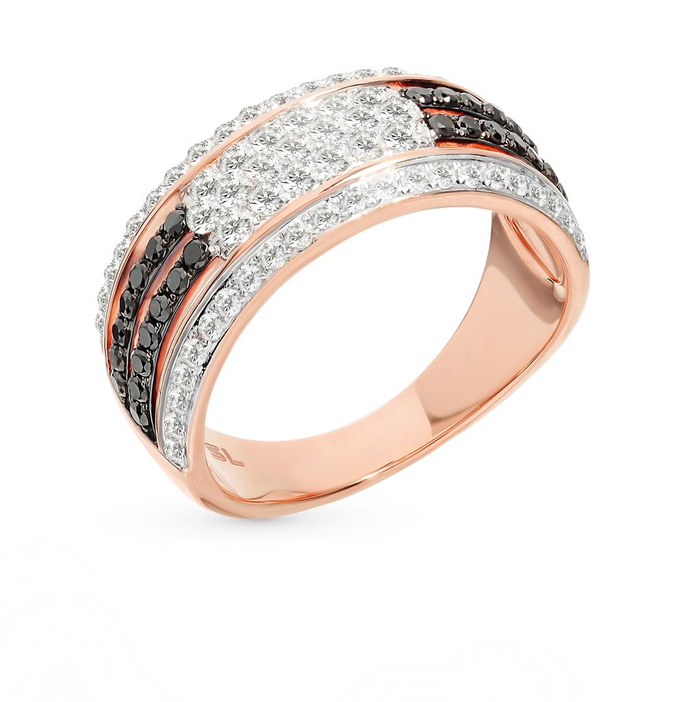 Золотое кольцо с чёрными бриллиантами в Санкт-Петербурге