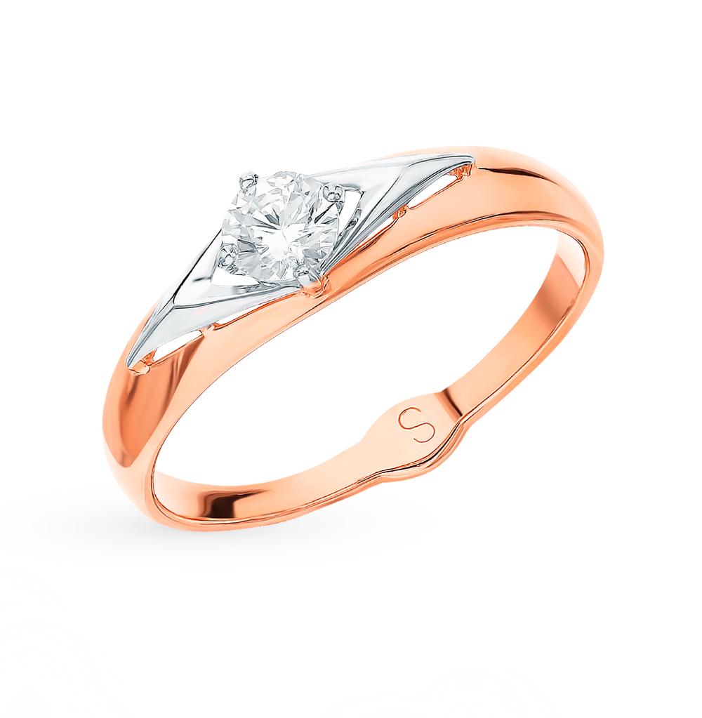 Фото «Золотое кольцо с фианитами SOKOLOV 017779*»
