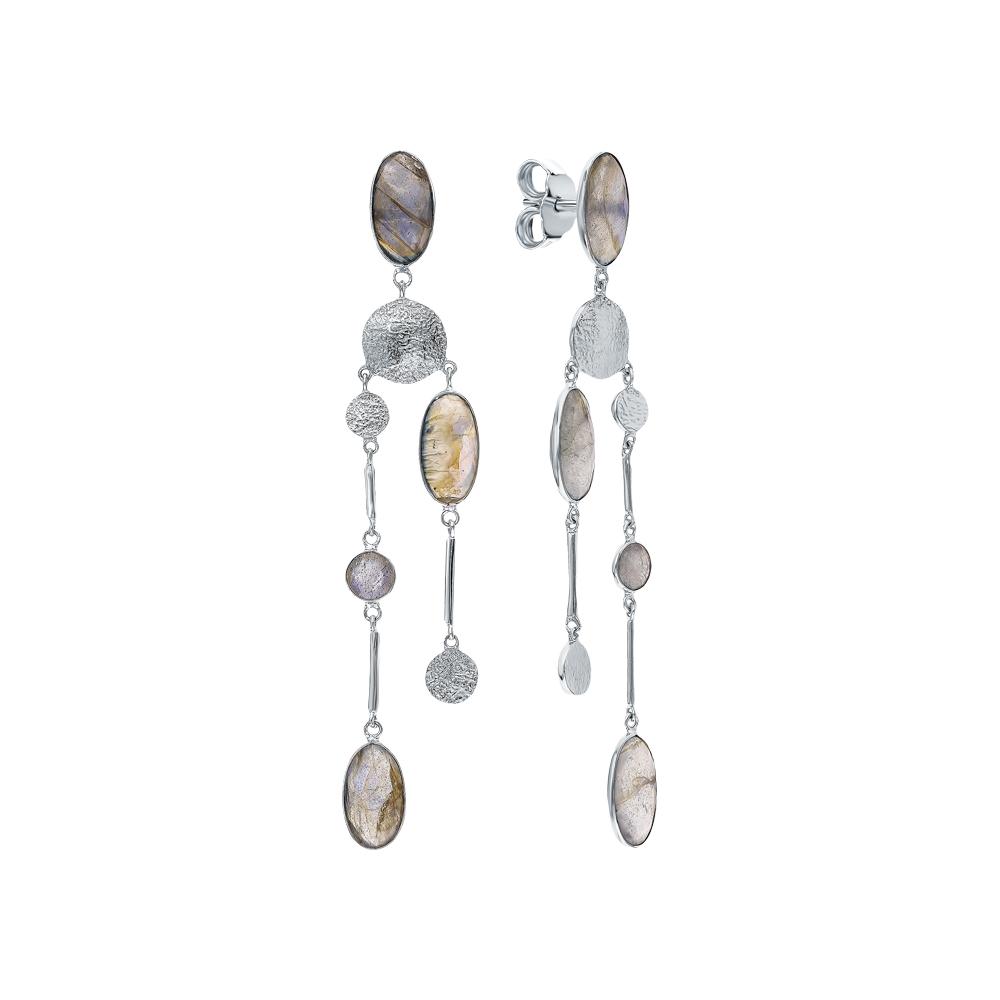 Фото «Серебряные серьги с лабрадоритами»