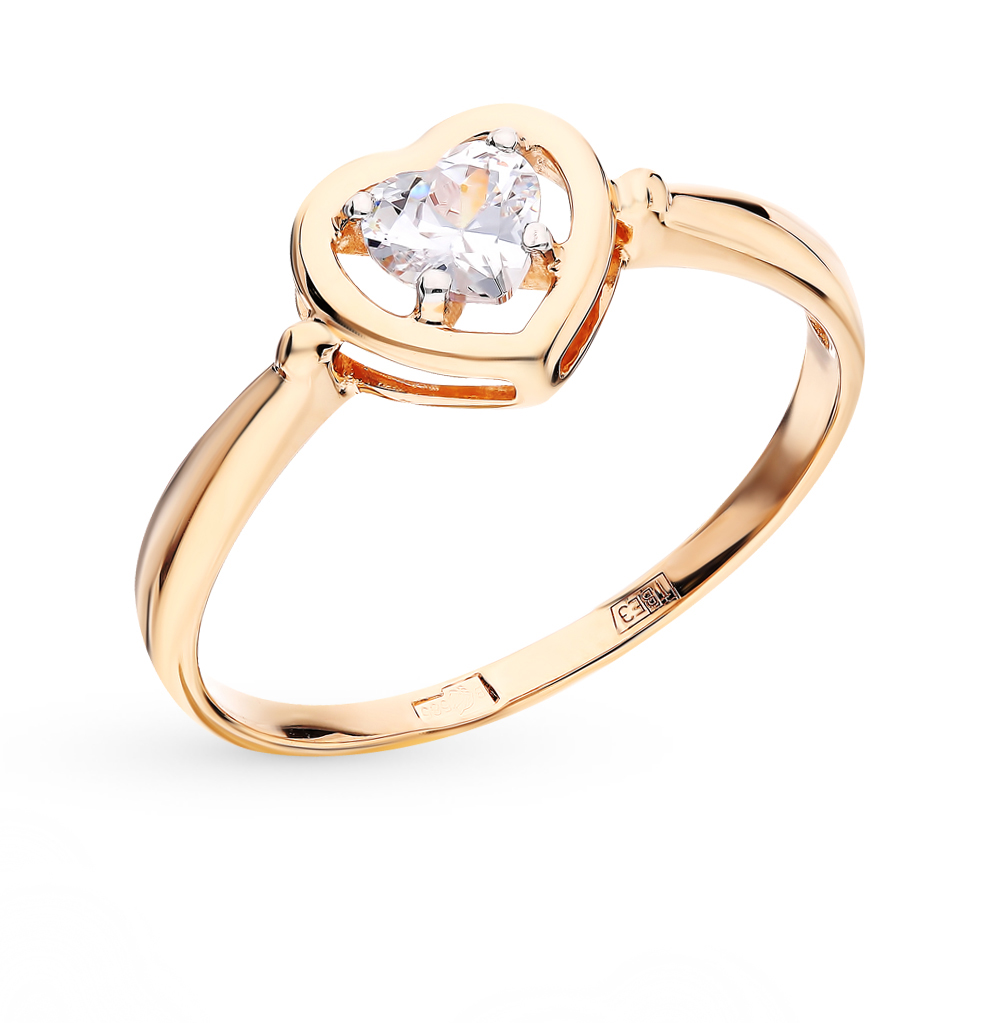 Фото «Золотое кольцо с фианитами SOKOLOV 017475*»