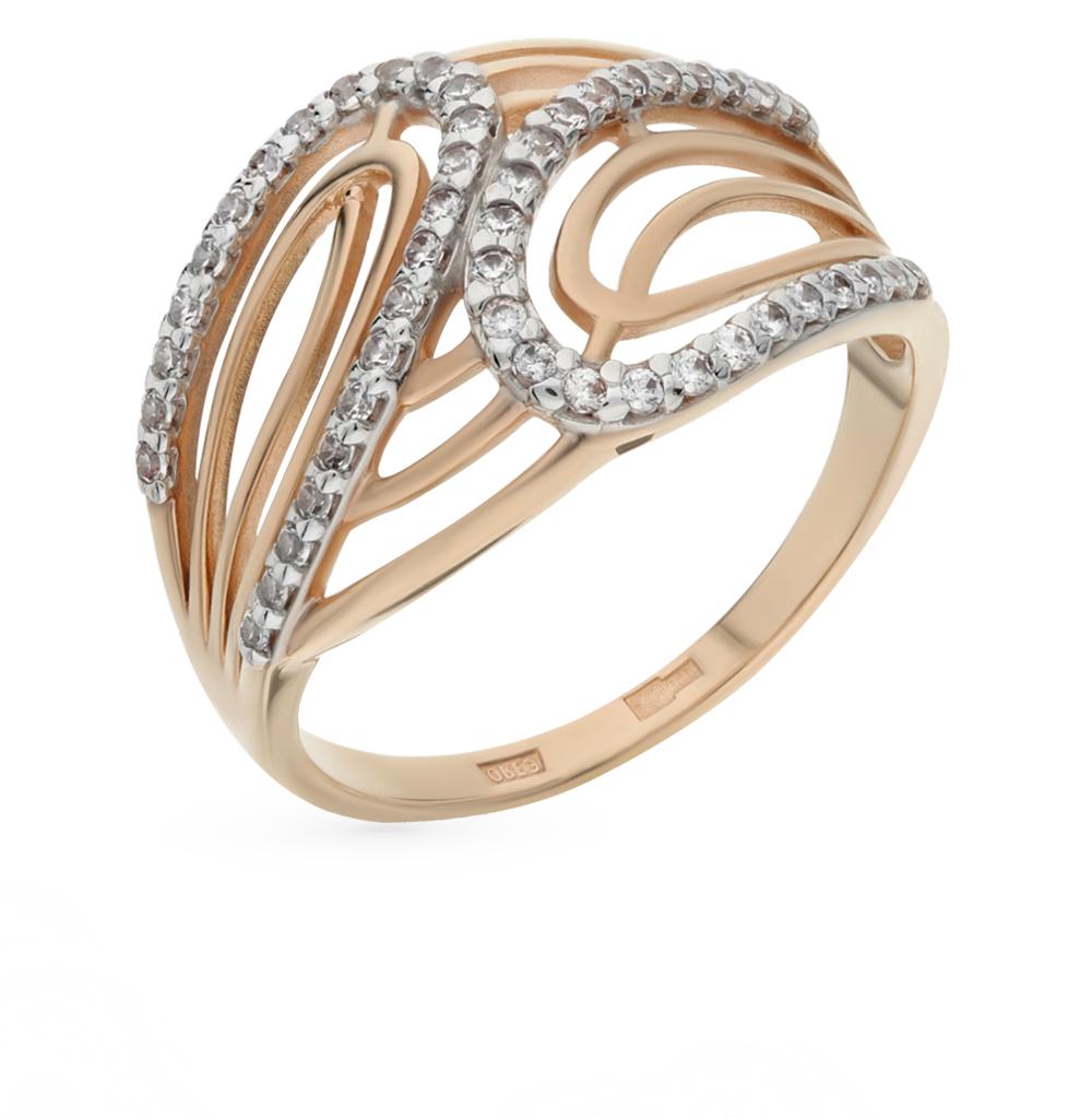 золотое кольцо с фианитами SOKOLOV 015571*
