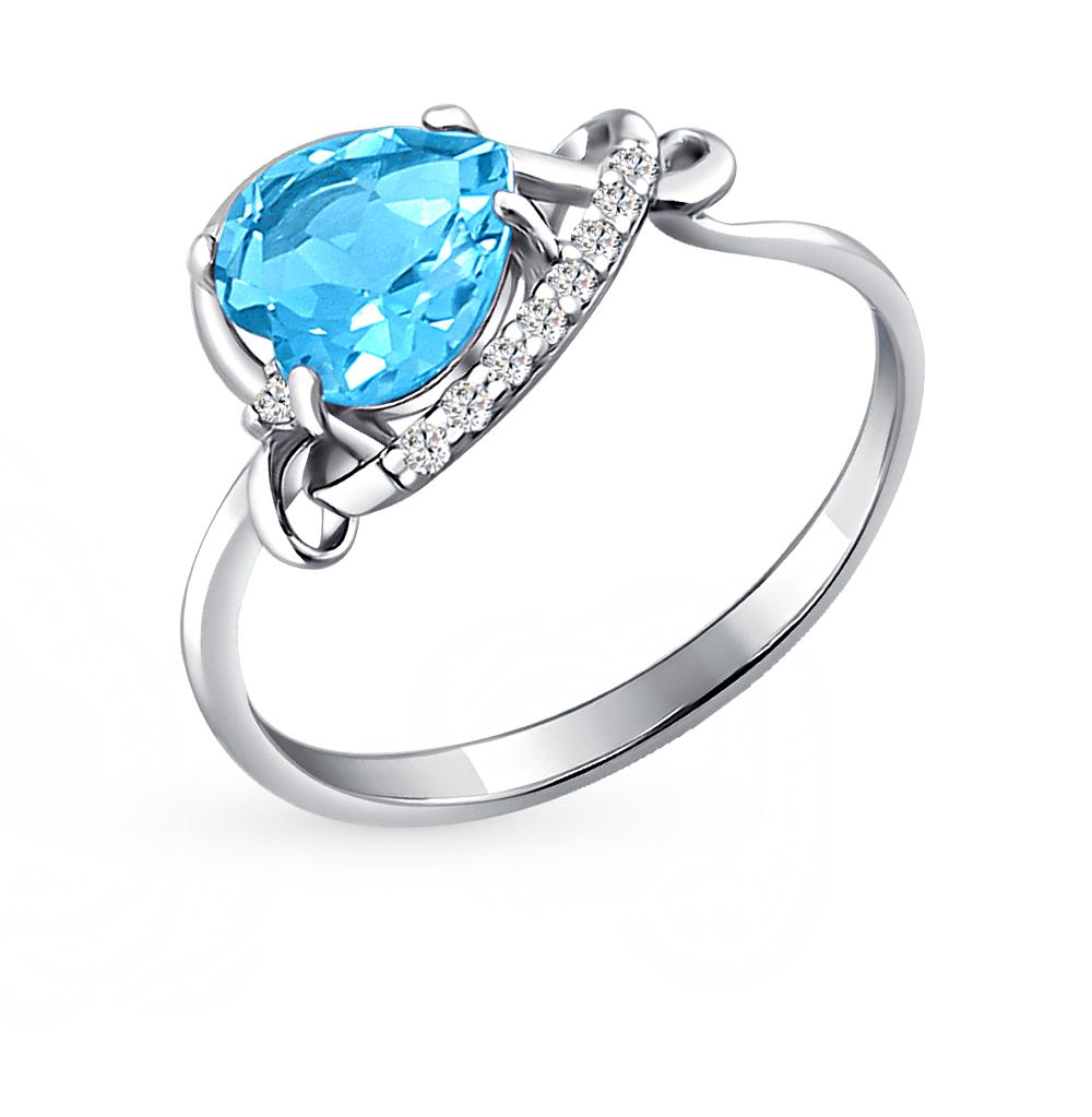 серебряное кольцо с топазами SOKOLOV 92010424