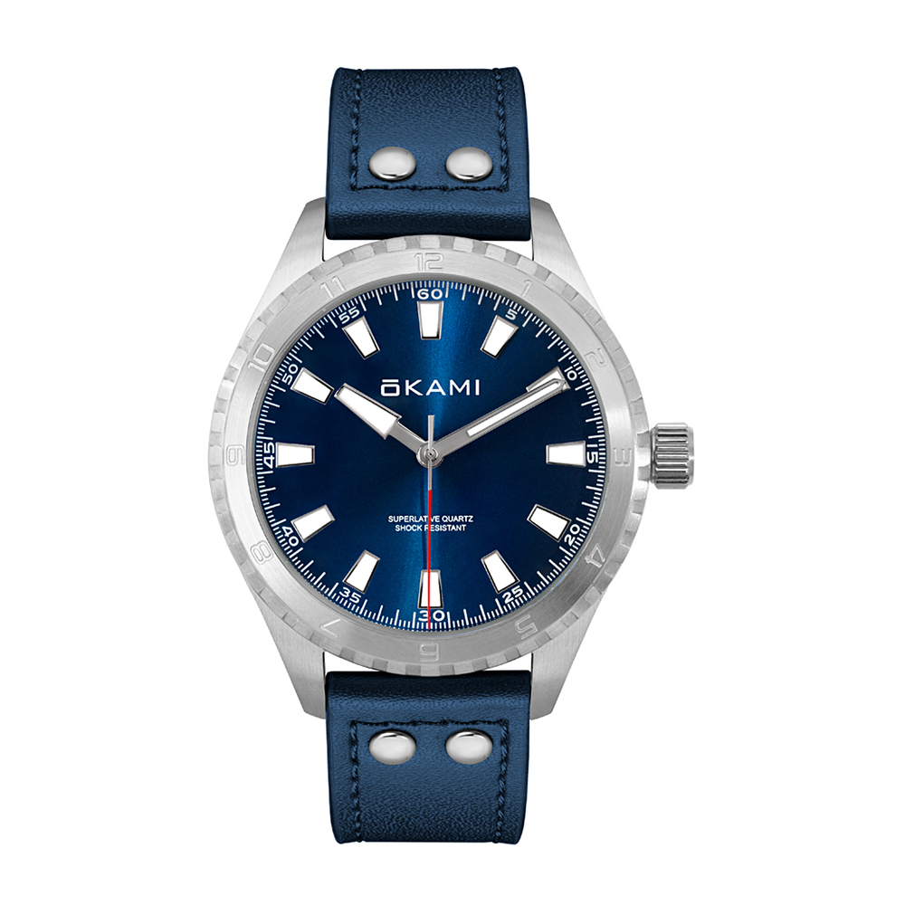 Фото «Мужские часы на ремне из натуральной кожи»