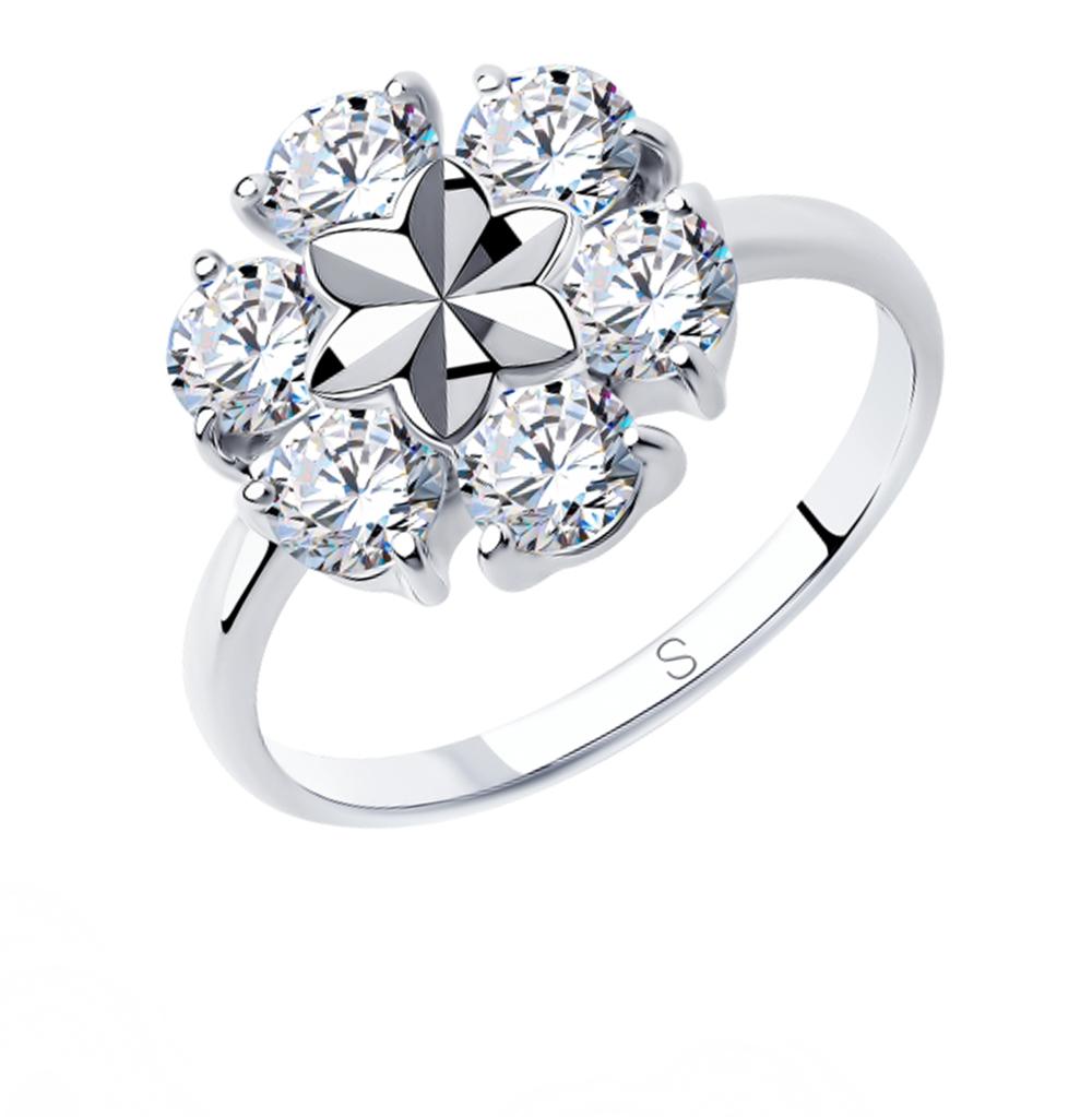 Фото «Серебряное кольцо с фианитами SOKOLOV 94012979»