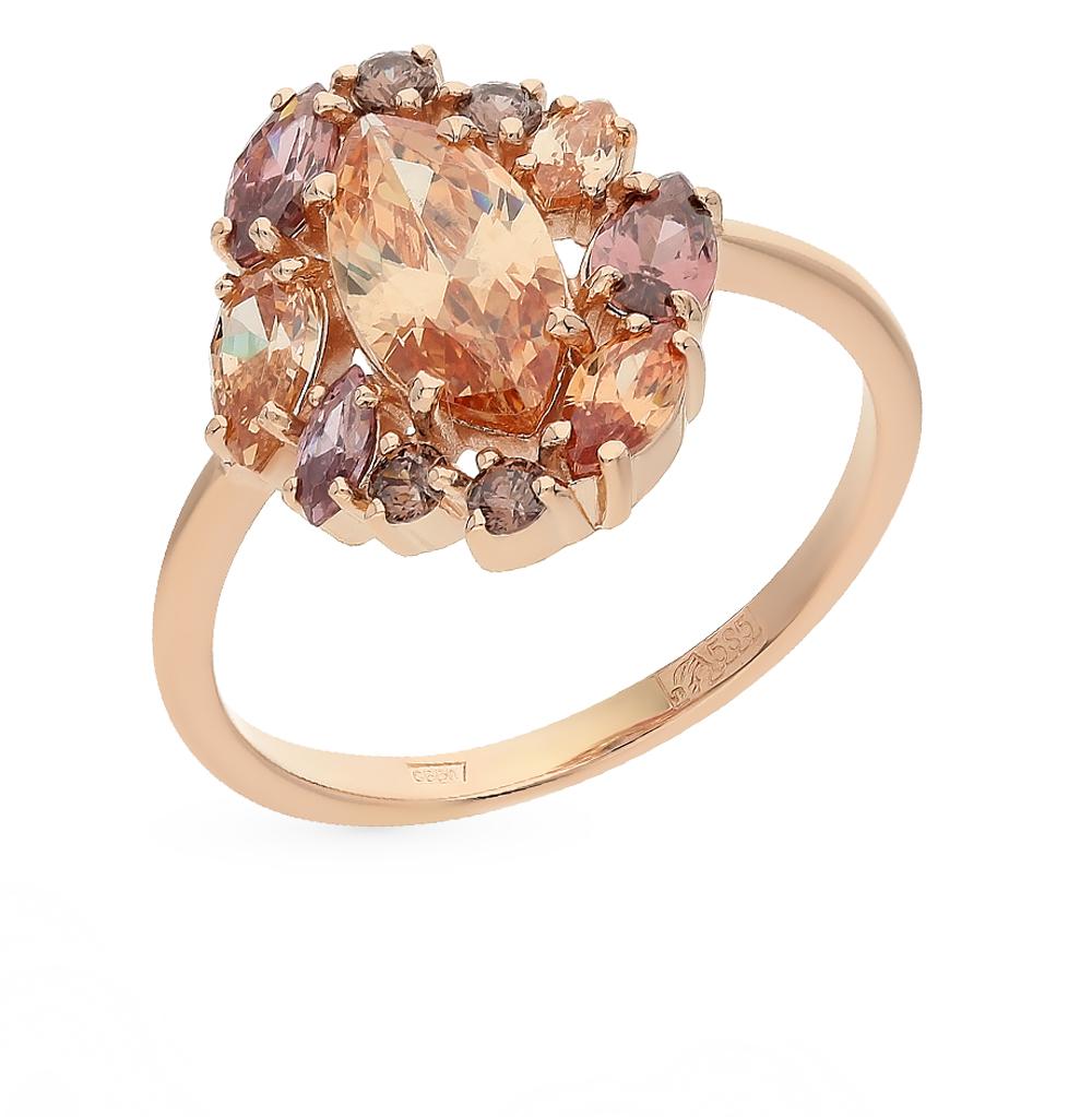 Фото «Золотое кольцо с со шпинелью и родолитами»