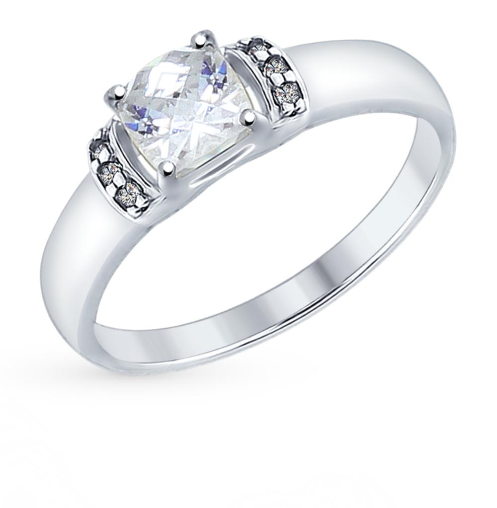 серебряное кольцо с фианитами SOKOLOV 89010064