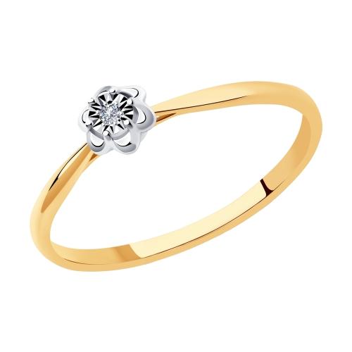 Фото «Золотое кольцо с бриллиантами SOKOLOV 1011965»