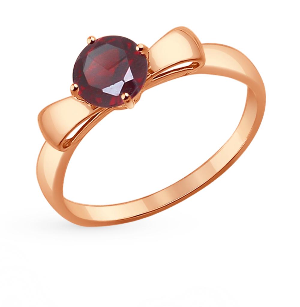 золотое кольцо с гранатом SOKOLOV 714303*