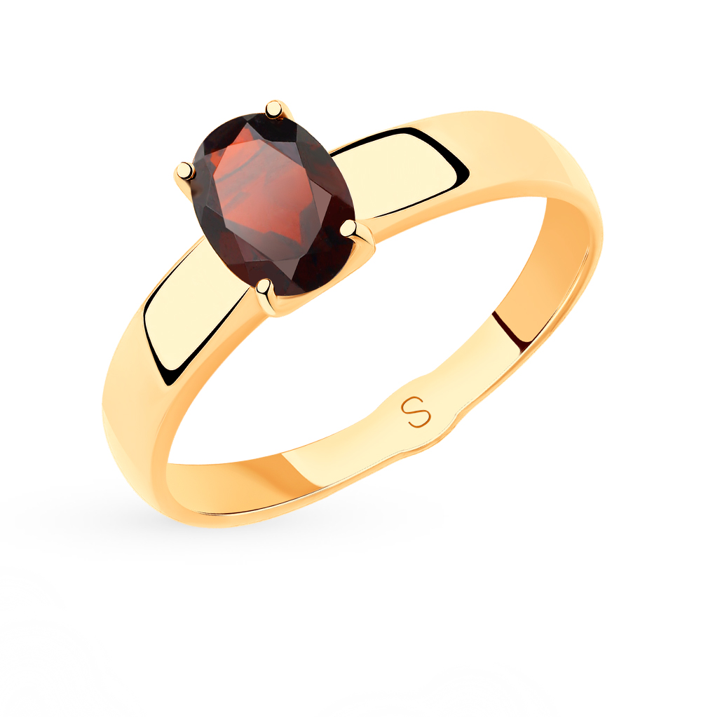 Фото «Золотое кольцо с гранатом SOKOLOV 715474*»