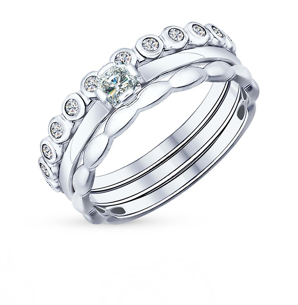 серебряное кольцо с фианитами SOKOLOV 94011706