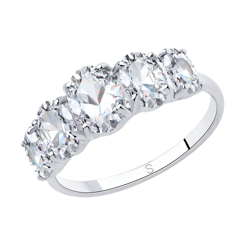 Фото «Серебряное кольцо с фианитами SOKOLOV 94013066»