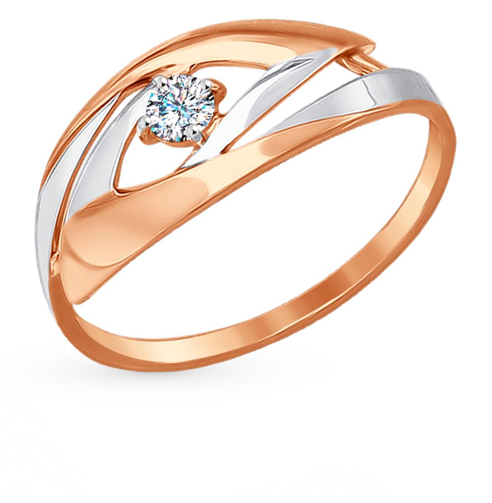 Фото «Золотое кольцо с фианитами SOKOLOV 017236*»