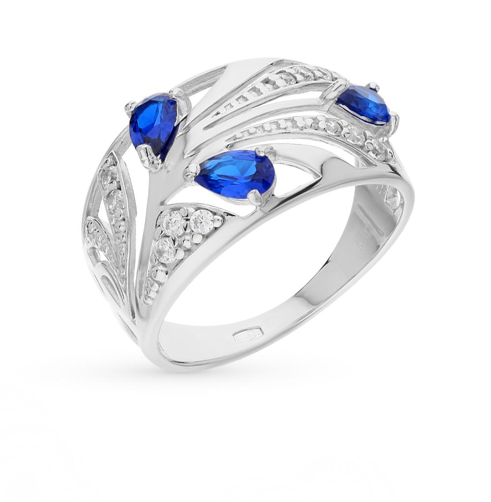 серебряное кольцо с фианитами SOKOLOV 94010369