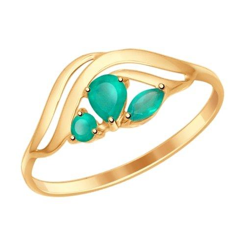 Фото «Золотое кольцо с агатом SOKOLOV 714617*»
